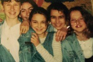 Natalia Siwiec i jej szkolni znajomi