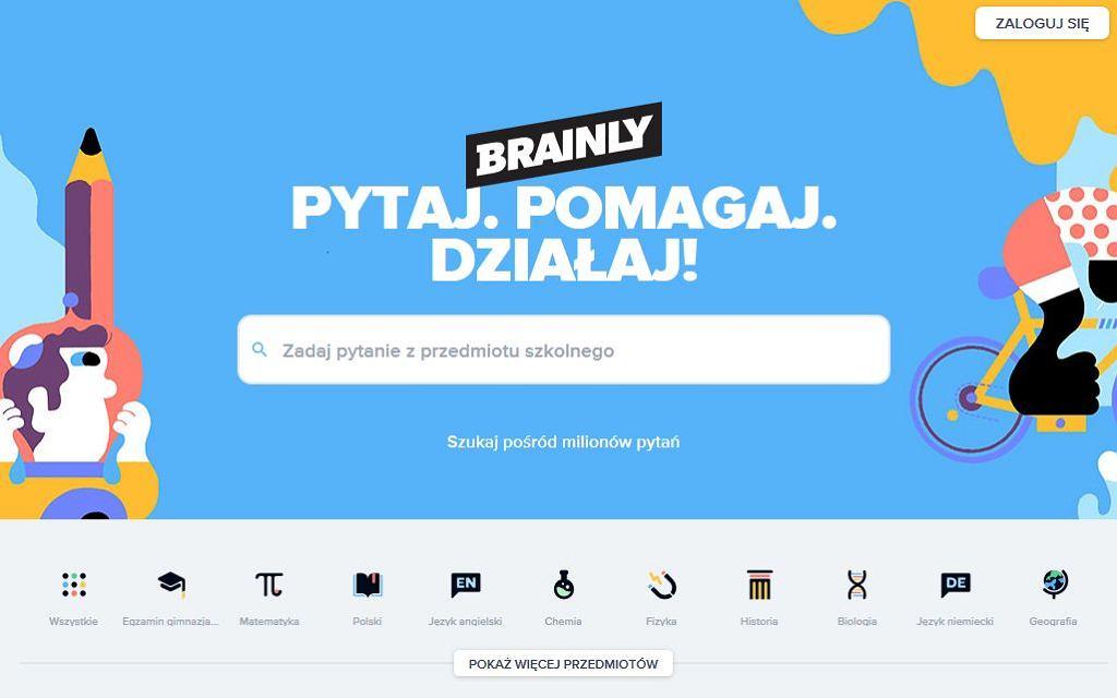 Społecznościowy serwis edukacyjny Brainly