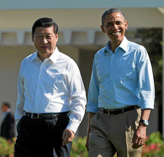 Prezydenci USA i Chin Barack Obama i Xi Jinping