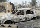 Spalone auto w zaatakowanej wiosce