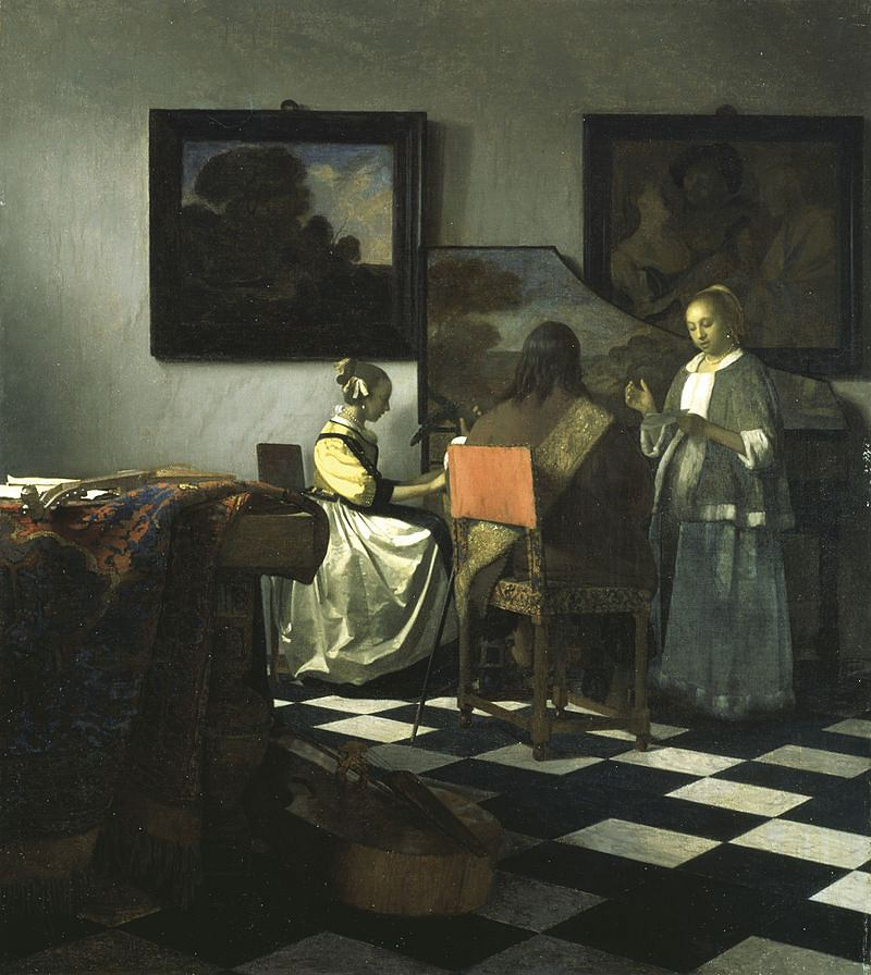 Jan Vermeer, Koncert, ok. 1664-1666 / Domena publiczna / Isabella Stewart Gardner Museum
