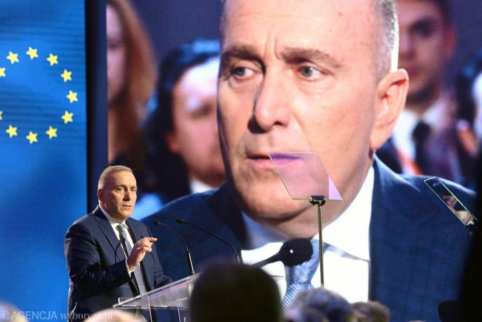 Grzegorz Schetyna przemawia podczas Rady Krajowej PO.