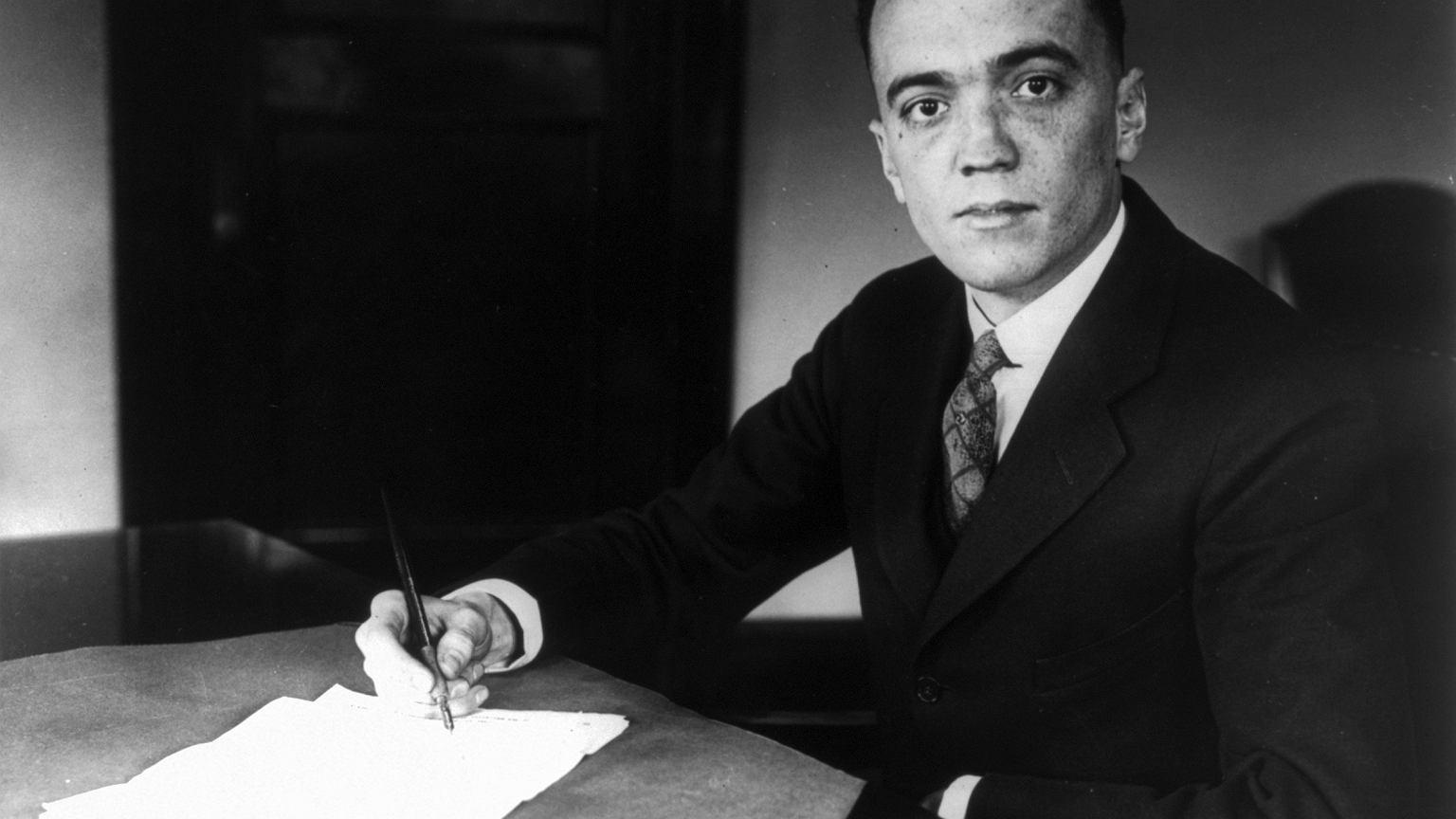 J. Edgar Hoover, pierwszy szef FBI, w 1932 r.