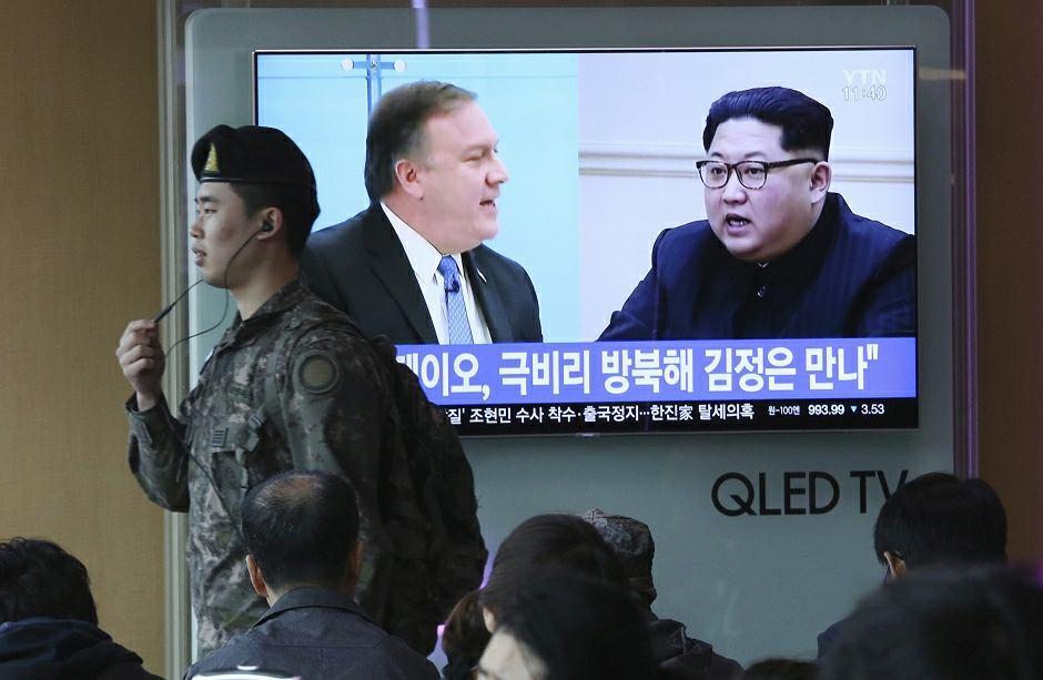 Szef CIA Mike Pompeo spotkał się z przywódcą Korei Północnej Kim Dzong Unem
