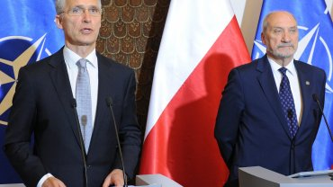 Jens Stoltenberg i Antoni Macierewicz, 31.05.2016, Warszawa