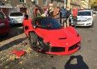 Ferrari LaFerrari rozbite na ulicach Budapesztu