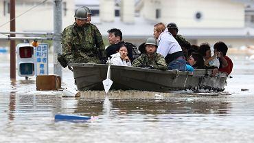 Powodzie w Japonii / Fot.