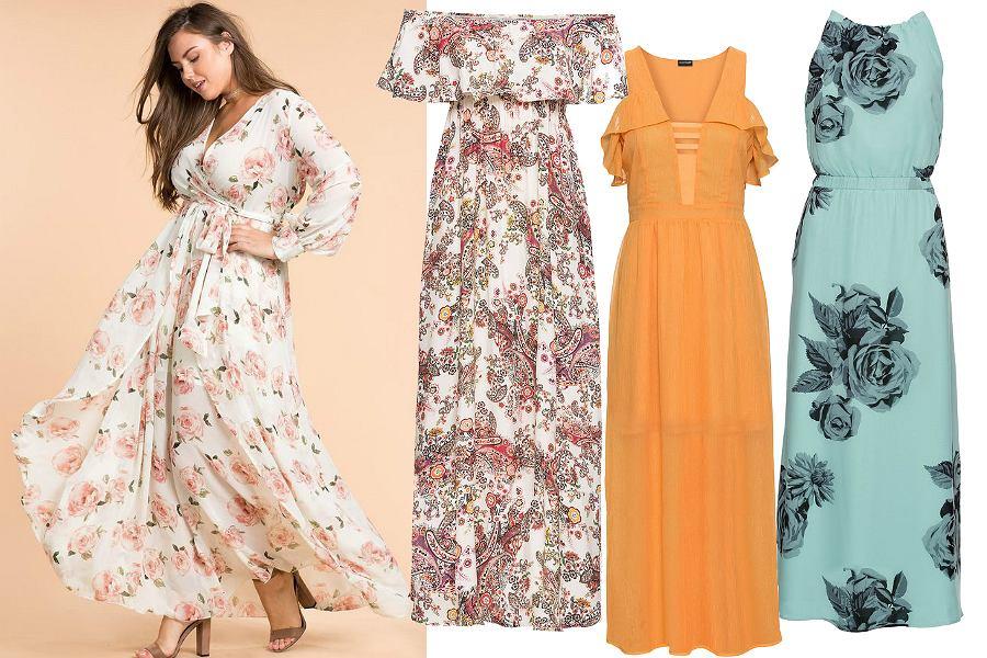 Kolorowe sukienki maxi