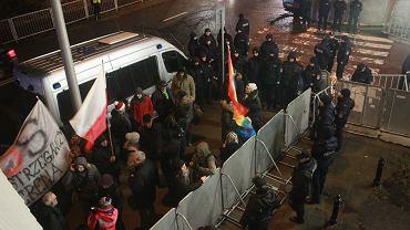 6 grudnia 2017, demonstracja pod Sejmem.