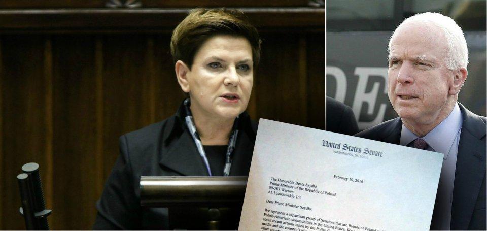 """Trzech wp�ywowych senator�w z USA napisa�o list otwarty do Szyd�o: """"Wzywamy rz�d do przestrzegania zasad demokracji"""""""