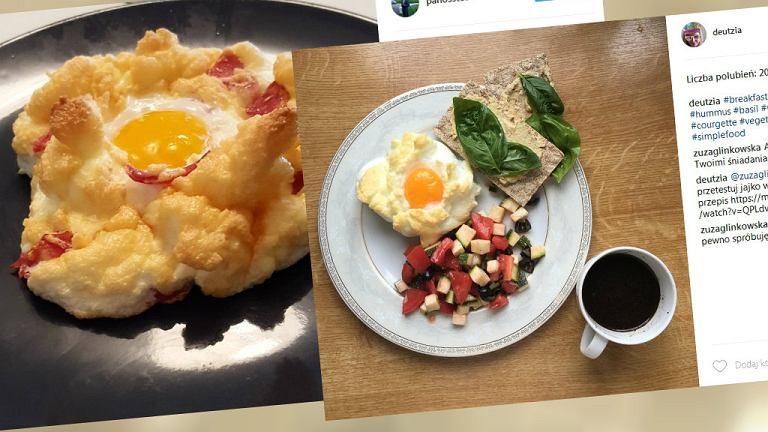 Upieczone w formie 'chmurki' jajko świetnie wygląda i tak samo smakuje
