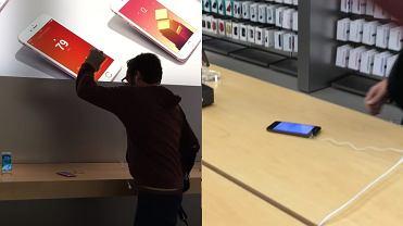 W�ciek� si� na Apple Store. Zanim zareagowali, zd��y� zmasakrowa� iPhone'y