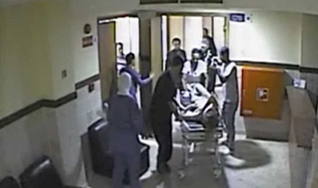 Monitoring ze szpitala, do którego przewieziono Magdalenę Żuk (fot. TVP INFO)