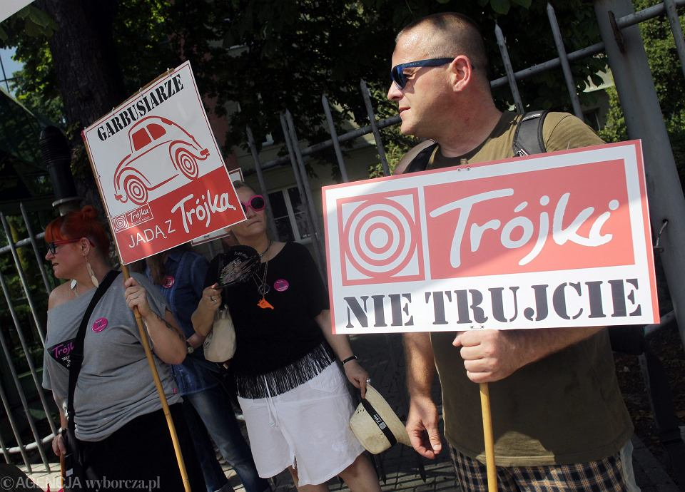 Protest słuchaczy pod radiowa Trójką. 26.06.2016