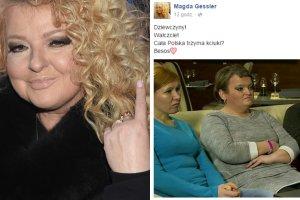 Magda Gessler, Screen z Facebooka Magdy Gessler