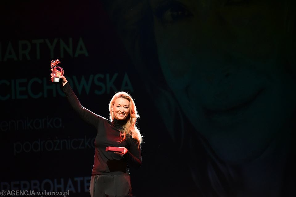 16.04.2018, Teatr Studio, na gali Superbohaterki Wysokich Obcasów, Martyna Wojciechowska.
