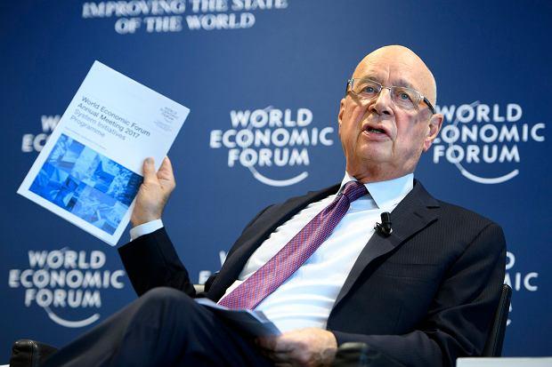 Switzerland Davos Forum, Klaus Schwab