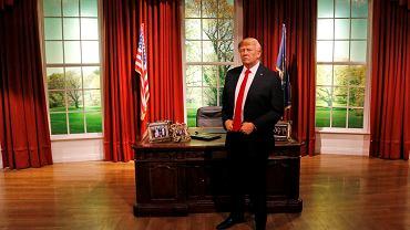 W przededniu  inauguracji prezydentury  Donalda Trumpa  w Waszyngtonie  jego figura woskowa już urzęduje w londyńskim Gabinecie Owalnym Madame Tussaud