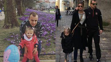 Kamil Grosicki z córką i żoną