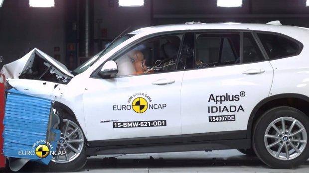 BMW X1 testy Euro NCAP