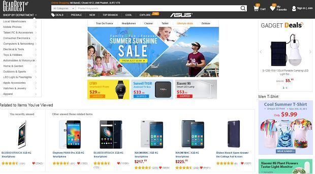 gearbest.com - strona główna sklepu
