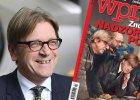"""Członek PE Guy Verhofstadt na okładce """"Wprost"""""""