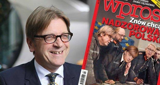 Cz�onek PE Guy Verhofstadt na ok�adce