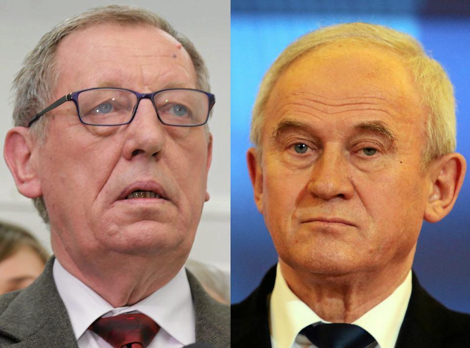 Minister Środowiska Jan Szyszko i Minister Energii Krzysztof Tchórzewski