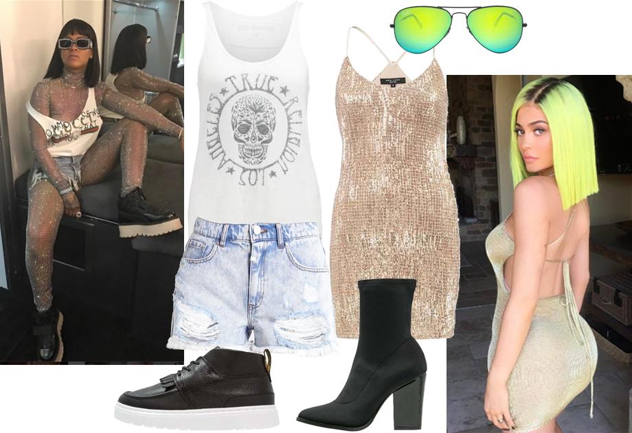 Coachella stylizacje Rihanna i Kylie Jenner