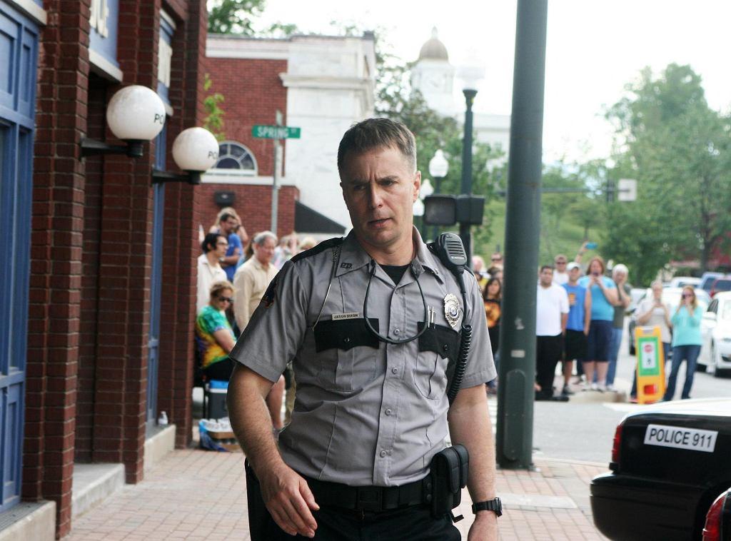 Sam Rockwell w filmie 'Trzy billboardy za Ebbing, Missouri' / Materiały prasowe