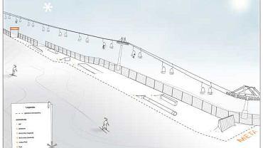 Projekt snowparku na Górce Szcześliwickiej