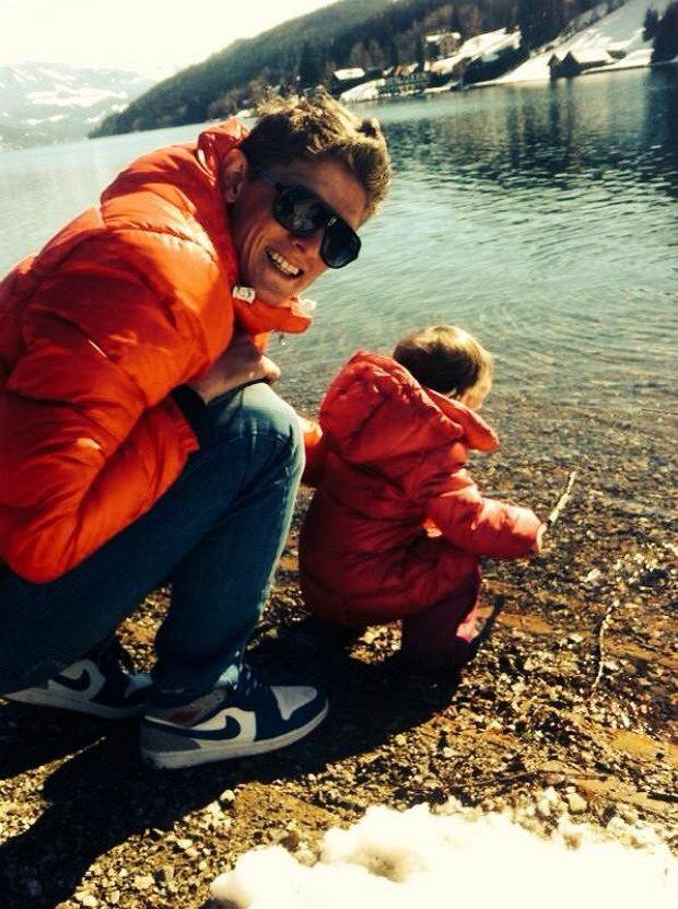 Thomas Morgenstern z córką