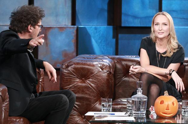 Anita Lipnicka opowiedziała w programie Kuby Wojewódzkiego o swoim mężu. W rewanżu showman odniósł się do zamieszania z własnym ślubem, który sfingował na użytek reklamy.