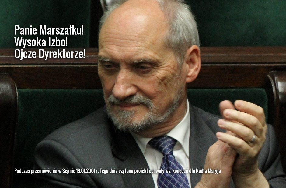 Antoni Macierewicz na posiedzeniu Sejmu (fot. Sławomir Kamiński/AG)