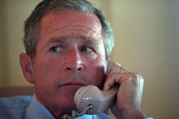 George W. Bush i jego otoczenie 11.09.2001