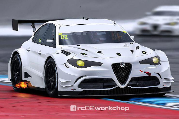 Alfa Romeo Giulia WTCC (render)