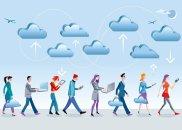 aplikacja, komputery, Dane i aplikacje w chmurach