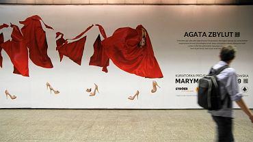 Obraz Agaty Zbylut w warszawskim metrze