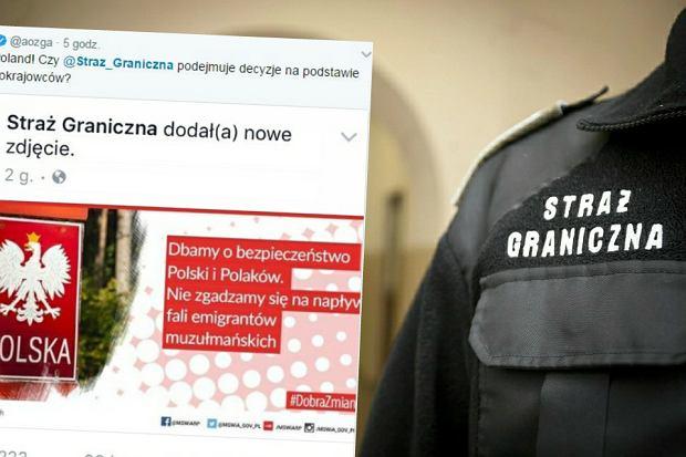 """Straż graniczna publikuje wpis o muzułmanach i szybko go usuwa. """"Skandal! Segregują imigrantów"""""""
