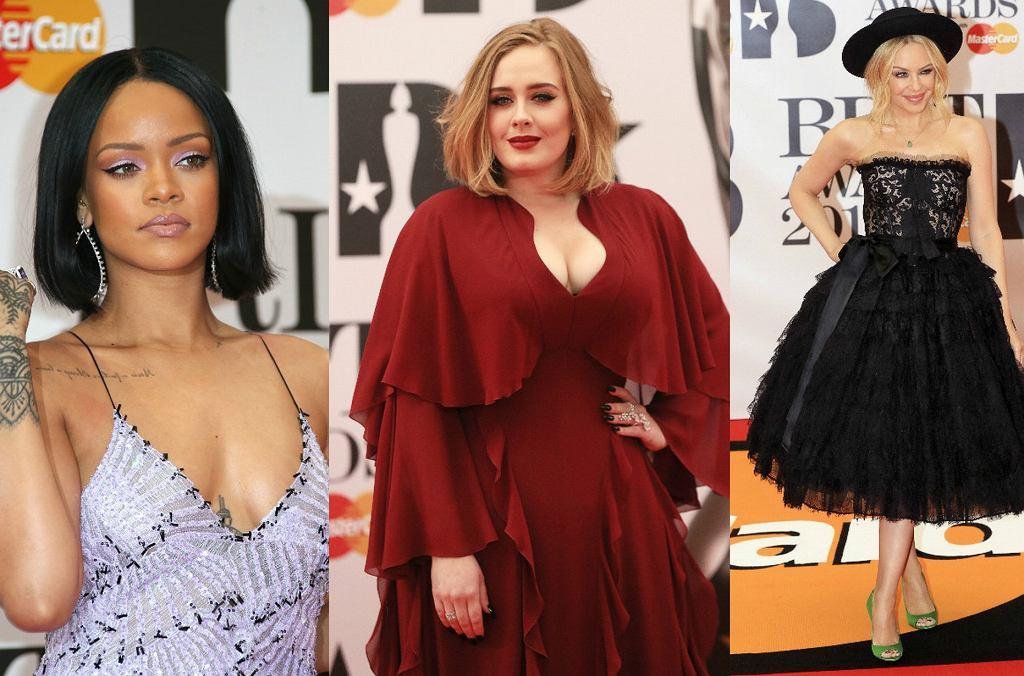 Zdjęcie numer 1 w galerii - Brit Awards 2016. Seksowna Rihanna, urocza Adele, Minogue z nowym chłopakiem. Kto najlepiej? [DUŻO ZDJĘĆ]