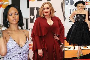 Na gali rozdania Brit Awards 2016 nie zabrak�o najwi�kszych �wiatowych gwiazd. Pojawi�y si� m.in. Rihanna, Adele czy Kylie minogue, kt�ra z dum� prezentowa�a sw�j pier�cionek zar�czynowy i... du�o m�odszego narzeczonego! Zobaczcie w naszej galerii, kto pojawi� si� na imprezie!