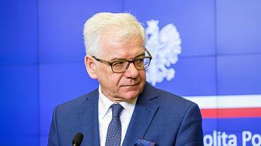GOswiadczenie prasowe przed wizyta Ministra Spraw Zagranicznych w Gruzji