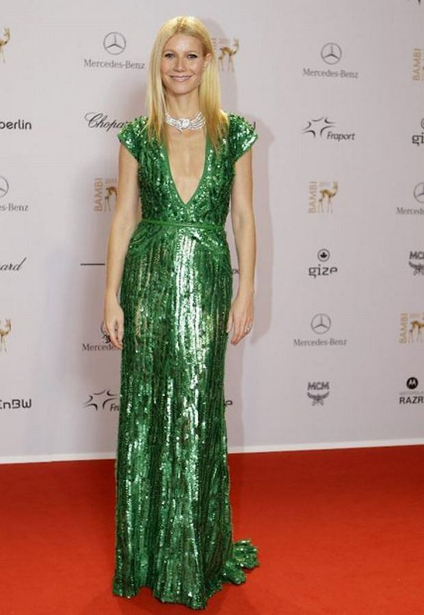 US actor Gwyneth Paltrow poses for photographers on the red carpet as she arrives for the Bambi 2011 media awards, Thursday, Nov. 10, 2011, in Wiesbaden, Germany. (AP Photo / Frank Augstein)