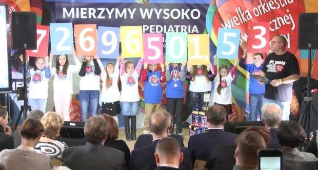 Ponad 72,5 mln zło zebrał w tym rok WOŚP