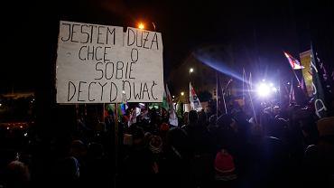 Protest pod Sejmem RP, Warszawa 13 stycznia 2018