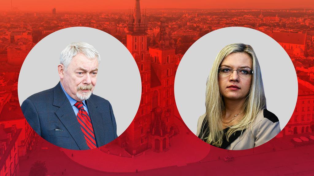 Jacek Majchrowski i Małgorzata Wasserman
