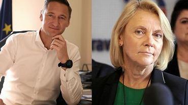 Urzędujący marszałek województwa i radny nowej kadencji sejmiku Olgierd Geblewicz (PO) oraz radna PiS Małgorzata Jacyna-Wii, w czasie kampanii wymieniana jako ewentualna kandydatka na marszałka