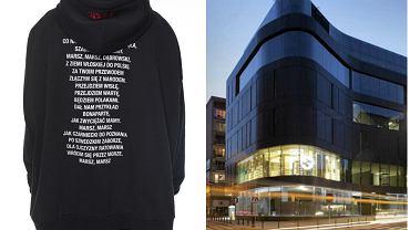 Patriotyczna bluza modnej marki Vetements w luksusowym domu handlowym Vitkac