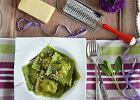 Szczawiowe ravioli z �ososiem, ricott� i botwink�