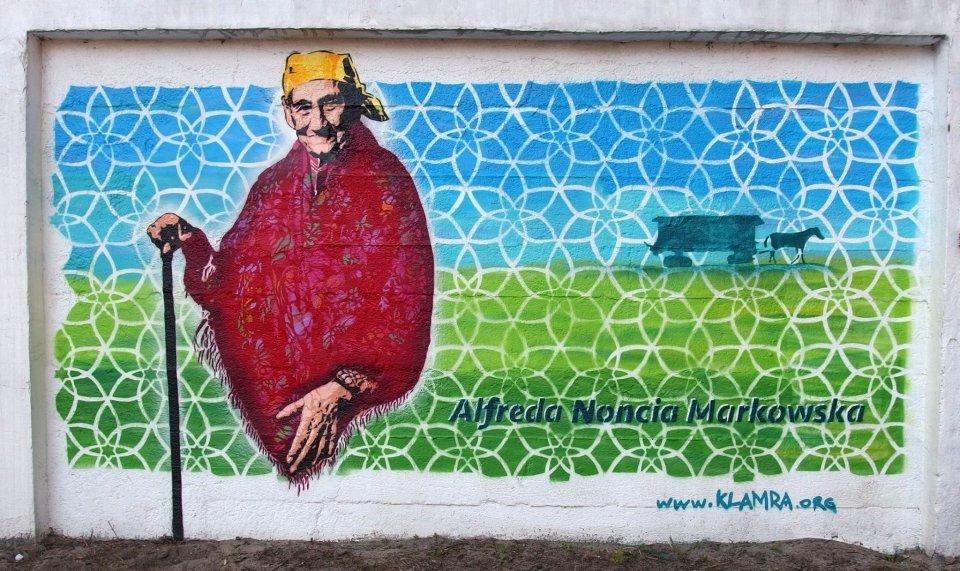 Ochota powsta mural upami tniaj cy 39 romsk sendlerow 39 for Mural ursynow